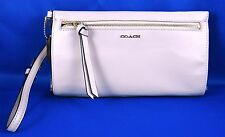 COACH MADISON TWO TONE PYTHON EMBOSSED BLUSH LEATHER LARGE WRISTLET 50984