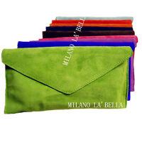 27 Colours Large Envelope Clutch Evening Genuine Real Suede Leather Shoulder Bag