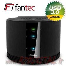 BOX FANTEC SQ-X2RU3e 2 DOPPIO HARD DISK 3.0 eSATA RAID PROTEZIONE DATI NAS
