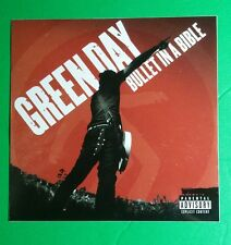 """GREEN DAY BULLET IN A BIBLE RED MUSIC 4"""" x 4"""" STICKER"""