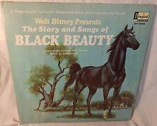 Black Beauty Original Disney Original Rare Vinyl record with gatefold book