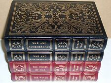 Easton Press WINDS OF WAR & WAR AND REMEMBRANCE Herman Wouk 4 vols