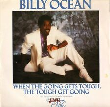 """BILLY OCEAN when the going gets tough the tough get going JIVET114 1986 12"""" PS"""