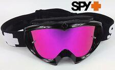 Spy Optics Targa 2 Alloy Motocross MX Gafas Negro Con Lente Espejado Rosa Nuevo