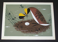 "Charles/Charley Harper Hand Signed Ford Times ""Horned Grebes"" +Illustrated Life"