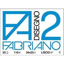 F2 FABRIANO BLOCCO DISEGNO  RUVIDO  24X33