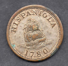 HISPANIOLA 1780 * Piece of EIGHT * TOKEN COIN * 1950s Scaroborough