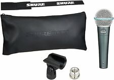 Shure BETA 58A Supercardioid Dynamic Microphone w High Output Neodymium Element