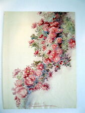 Listed CA Artist Alice Hatch Original Painting Watercolor Floral Asters?