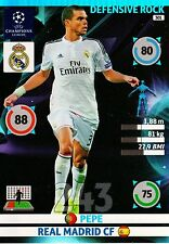 ADRENALYN CL 2014/15 243  REAL MADRID PEPE DEFENSIVE ROCK  MINT PERFECT!!!