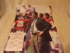 POSTER - ALABAMA - GENE STALLINGS - 1996 FOOTBALL SCHEDULE