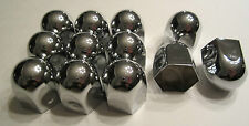 "12 Chrome Metal 15/16"" Nut Caps & Bolt Covers for Car Truck Motorcycle SET LOT"