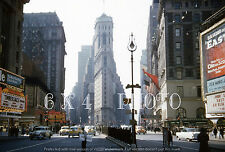 1955 NEW YORK CITY Times Square Hotel Claridge Criterion  - photo from slide
