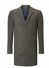"John Lewis Grey Donegal Wool-Blend Crombie Overcoat BNWT Size XXXL 50"" Chest"