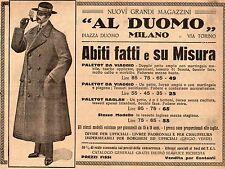 Pubblicità vintage abito uomo su misura Duomo Milano advert publicitè reklame A3
