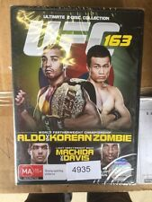 2 Disc Collection - UFC 163 - Aldo VS Korean Zombie BRAND NEW #4935