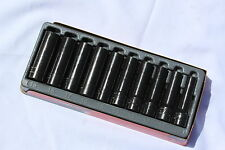 Snap On Tools 1/2 Dr. 6 Point Deep Impact Socket Set Metric  310SIMMYA