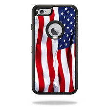 Skin Decal Wrap for OtterBox Defender iPhone 6 Plus/6s Plus Case American Flag