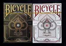 Bicycle playing cards (Gentleman) 2 Deck GILDED SET - RARE