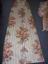 Blue/white/pink floral/bows Cotton quality curtains 66 ins x 90 ins.