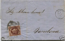 SPAIN, LETTER FROM MADRID, AUG 1862, STAMP CORREOS ESPANA OF 4 CUARTOS      m