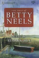 Fate Is Remarkable (Best of Betty Neels) by Neels, Betty, Good Book