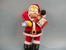 The Simpsons NAUGHTY SANTA HOMER Plush from Applause 2004