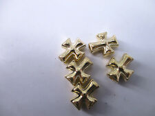14pcs Plated Gold Retro Cross Charms Spacer Beads Jewelry Beading DIY 10*8mm