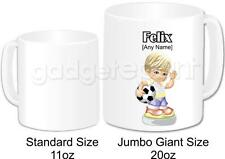 Personalised Football Gift Coffee Tea Novelty Jumbo Giant 20oz Mug (Design 1)