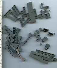LEGO x 51 Dark Bluish Gray Pieces mixed lot tile slope arch
