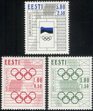 Estonia 1992 Olympic Games/Olympics/Sports/Flag/Rings/Animation 3v set (ee1072)