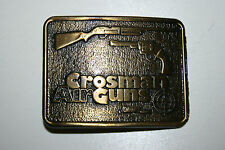 Vintage Crossman Air Guns Rifle Handgun Canada Metal Belt Buckle RARE