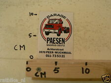STICKER,DECAL MAGIRUS-DEUTZ GARAGE PAESEN PEER-WIJCHMAAL TRUCK