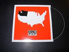 "SUB POP RECORDS SEATTLE 4"" USA LOGO Sticker Decal pearl jam nirvana"