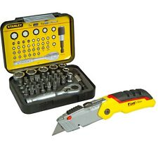 Stanley FatMax 0-10-825 Retractable Folding Knife Hadle 1-13-906 39pc Socket Set