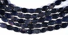 "BLUE & PURPLE DUMORTIERITE 14X10MM OVAL BEADS 8"" STRAND"