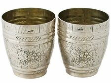 German Silver Beakers - Antique Circa 1900