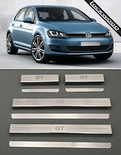 VW Golf Mk7 GT (Released 2013) 4 Door Sill Protectors / Kick plates