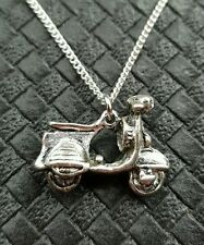ITALIAN VESPA SCOOTER MOPED NECKLACE MOD RUDE BOY SKA ROCKABILLY LAMBRETTA