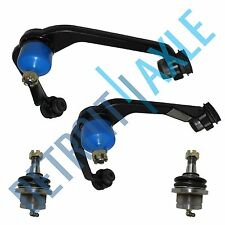 (2) Brand New Front Upper Control Arm w/Ball Joint + Both Lower Ball Joints 4x4
