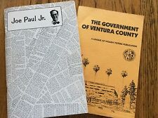 Ventura County History Booklets - John Paul Jr - - Guide to County Government