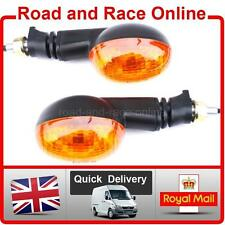 Universal Fit Indicators Pair 12v With Emarked Amber Lens Suit Enduro Supermoto