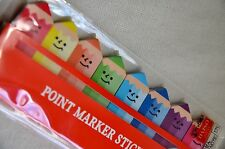 SMALL Pencil Shaped Sticky Note School Teacher Kids Colored Index Post It Memo