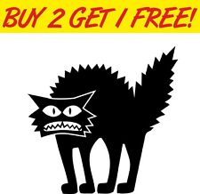 Scary Cat Spooky Halloween vinyl decal window sticker laptop car funny scary
