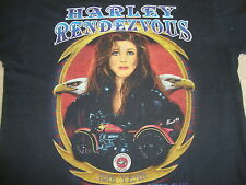 Vintage 93 Harley Rendezvous chopper eagle motorcycle paper thin 3d T shirt M L