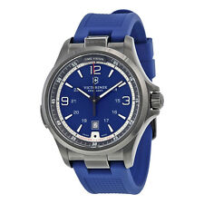 Victorinox Swiss Army Night Vision Blue Dial Blue Rubber Mens Watch 241707