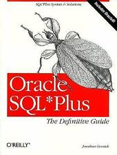 Oracle SQL*Plus by Jonathan Gennick (1999, Paperback)