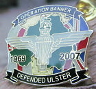PARACHUTE REGIMENT OPERATION BANNER ENAMEL BADGE POPPY PARA ULSTER ARMY AIRBORNE