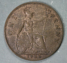 Beautiful Uncirculated 1936 Great Britain One Penny