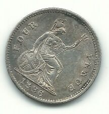 A High Grade Au 1836 Great Britain Silver Groat Fourpence-Jun047